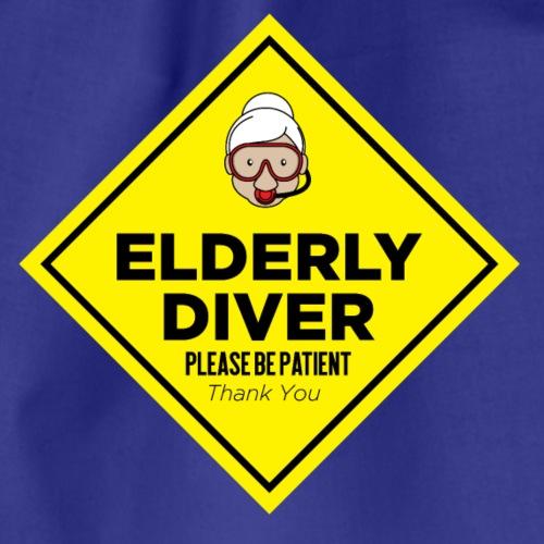 Elderly Diver - please be patient - female version - Turnbeutel