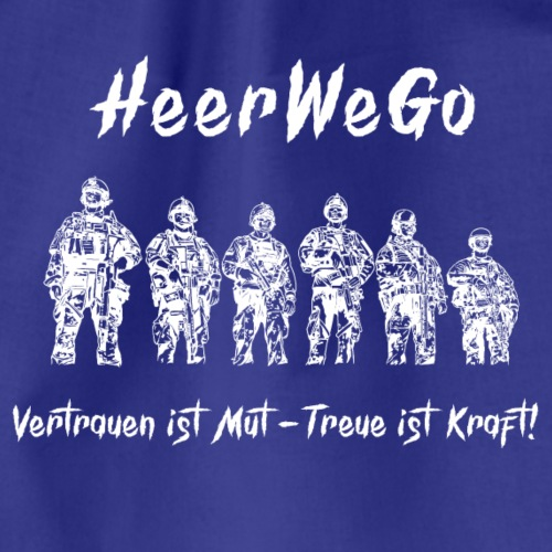 HeerWeGoweiß Bundeswehr Heer Soldaten Military - Turnbeutel