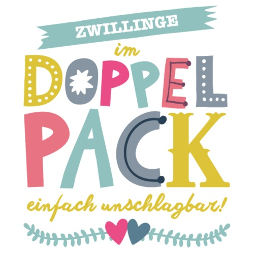 Zwillinge Neutral - Turnbeutel