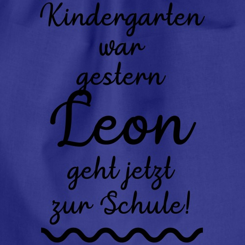 Kindergarten war gestern (Leon) - Turnbeutel