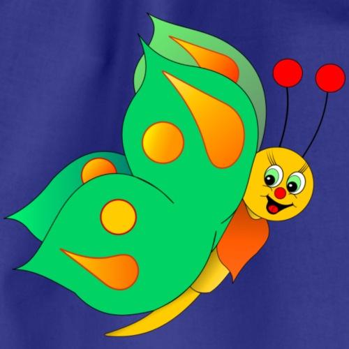 Schmetterling grün - Turnbeutel