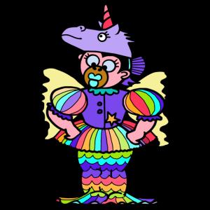 QueenKong girl fairy- Einhorn - Regenbogen - Fee - Turnbeutel