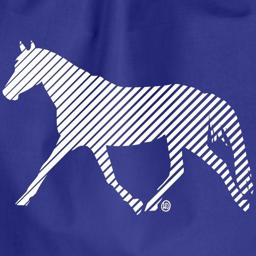 Streifen Pferd - Turnbeutel