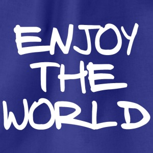 ENJOY THE WORLD - Drawstring Bag