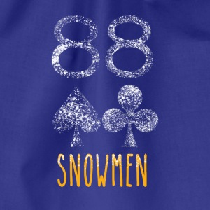 Poker Snowmen - Drawstring Bag