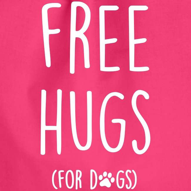 Vorschau: free hugs for dogs - Turnbeutel