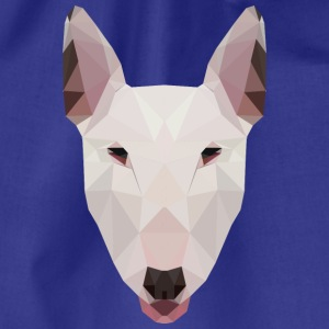 English Bull Terrier Artwork - Drawstring Bag