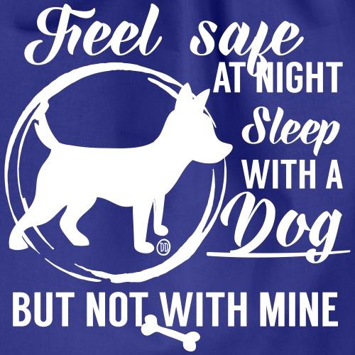 Hund im Bett - Turnbeutel