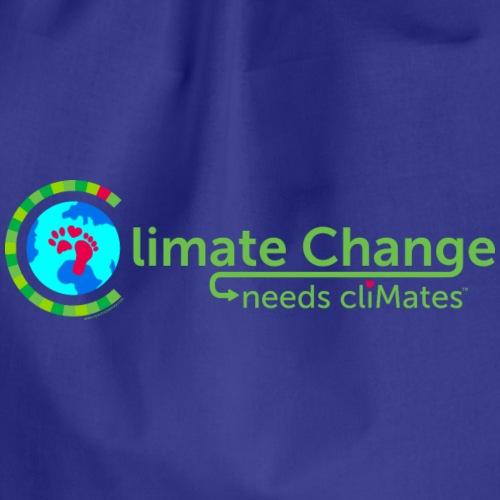 Climate Change needs cliMates - Drawstring Bag