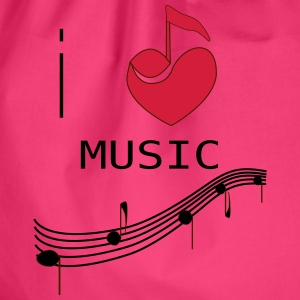 I_LOVE_MUSIC - Sacca sportiva