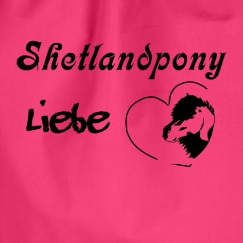 Shetlandpony Liebe in schwarz - Turnbeutel