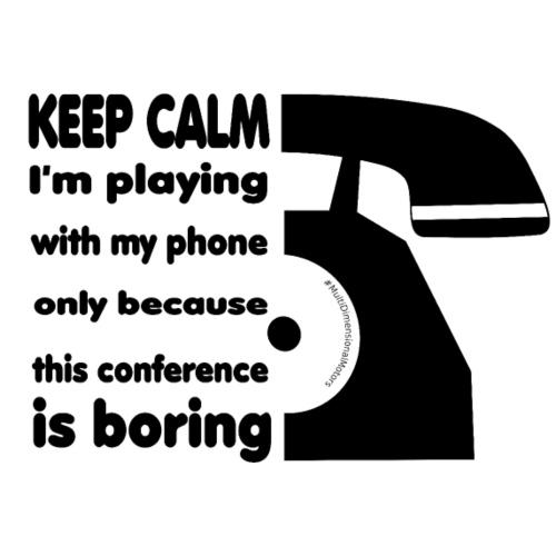 Phone Keep Calm - Sacca sportiva