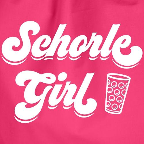 Schorle Girl und Dubbeglas - Turnbeutel