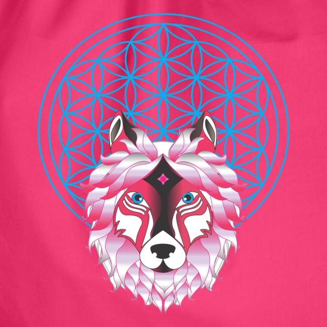 fleur de vie loup n°1