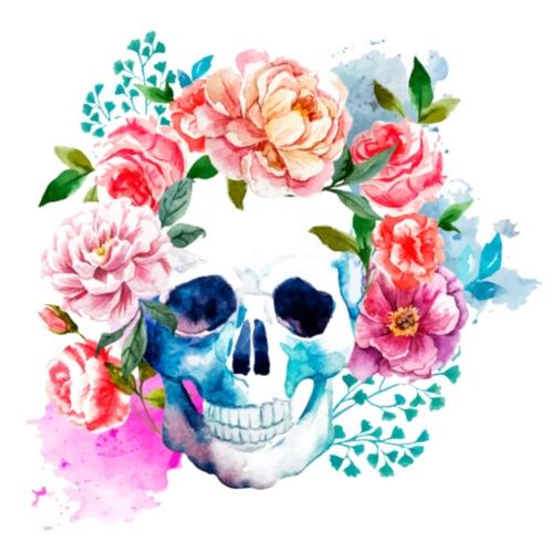 Calavera con flores - Mochila saco