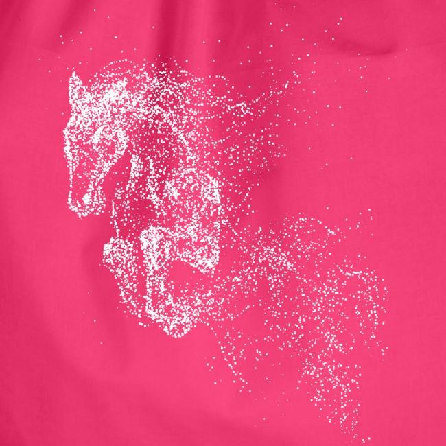 Vorschau: jumping horse white - Turnbeutel