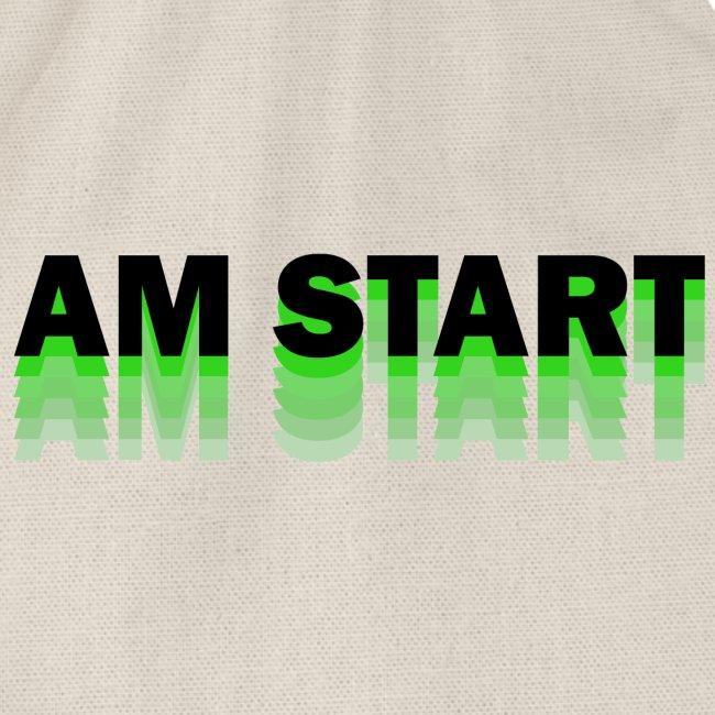 am Start - grün schwarz faded