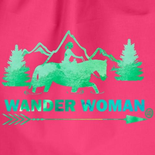 Sprücheshirt - Wander Woman - Turnbeutel