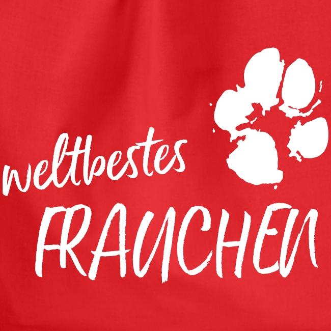 Vorschau: weltbestes Frauchen Pfote Hund - Turnbeutel