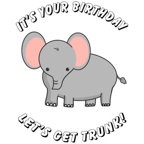 elephant birthday - Turnbeutel