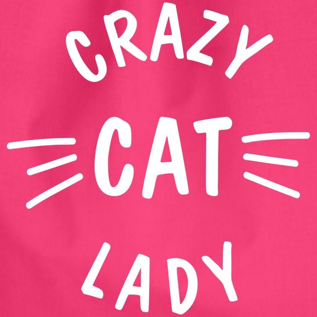 Vorschau: Crazy Cat Lady meow - Turnbeutel