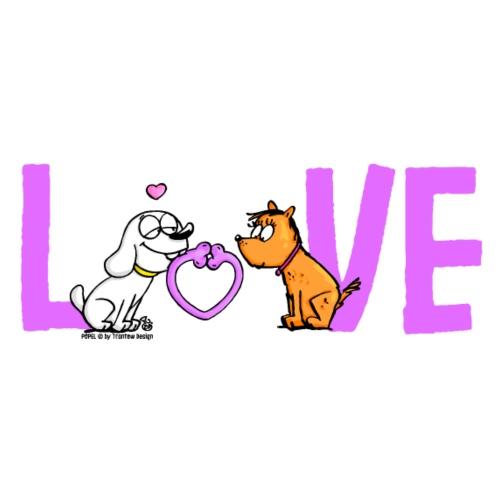 Hund verliebt - Turnbeutel