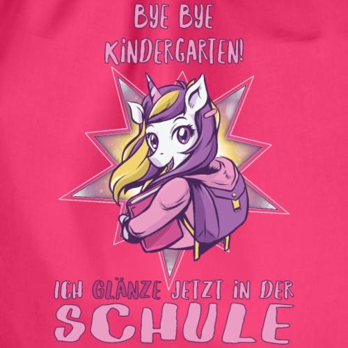 Bye Kindergarten ich glänze jetzt in der Schule - Turnbeutel
