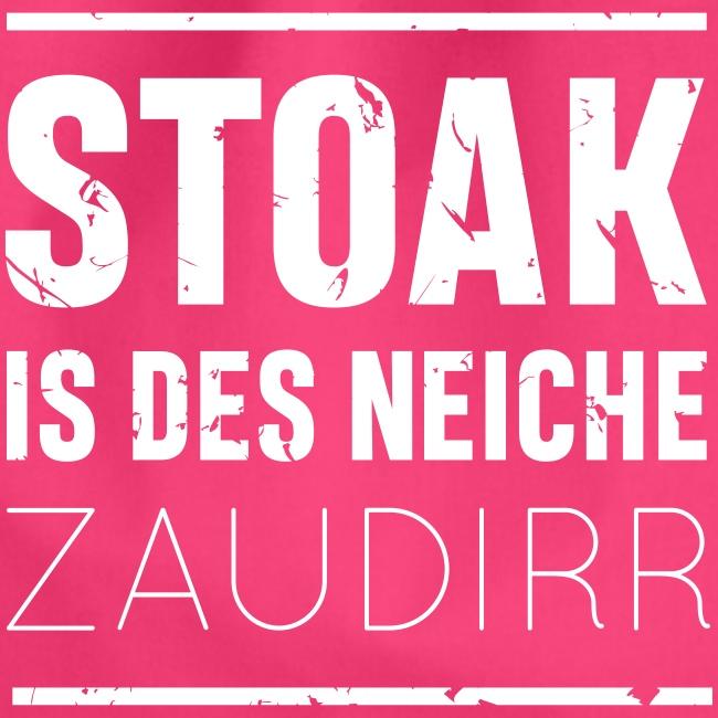 Vorschau: Stoak is des neiche zaudirr - Turnbeutel