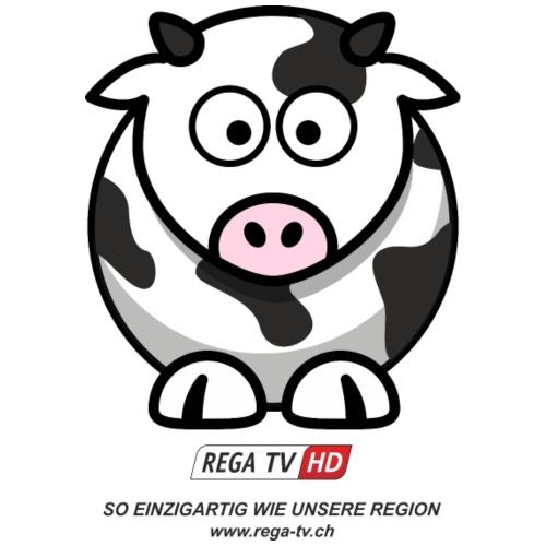 REGA-TV: Kuh, schwarzer Text - Turnbeutel