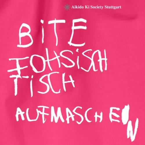 Bite Fohsischtisch - Bitte Vorsichtig (mit Logo) - Turnbeutel