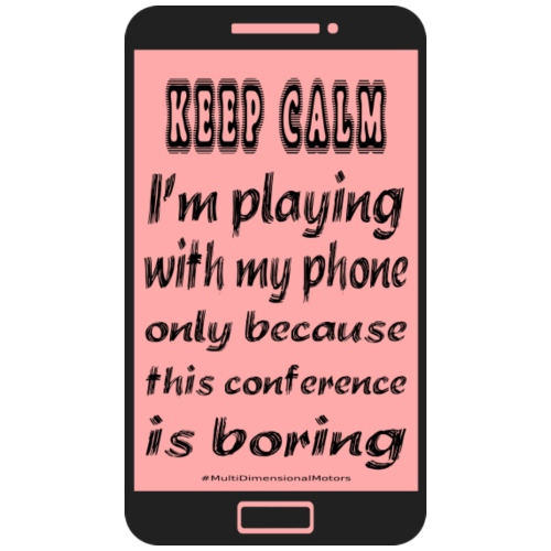 pink phone keep calm - Sacca sportiva