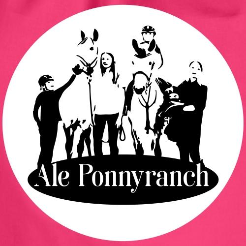 Ale Ponnyranch mot vit bakgrund - Gymnastikpåse
