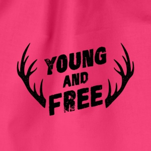 Young and Free - Drawstring Bag