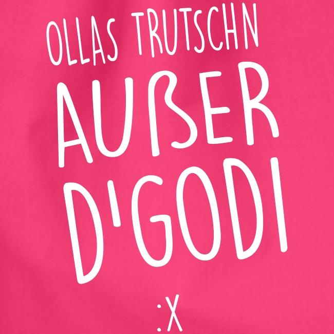 Vorschau: Ollas Trutschn außer d Godi - Turnbeutel