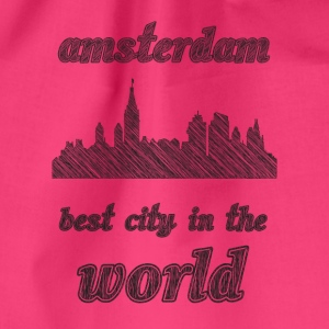 aMSTERDAM Best city in the world - Drawstring Bag
