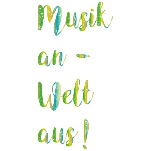 Musik an grün - Turnbeutel