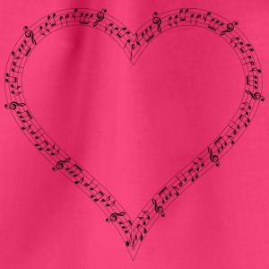 musical heart - Drawstring Bag