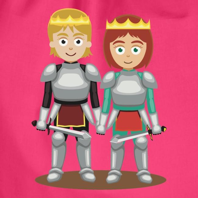 Prinzessin und Prinz mit Schwert