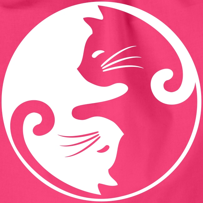 Vorschau: yin yang cat - Turnbeutel