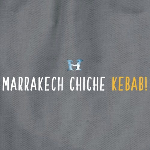Marrakech Chiche Kebab - Logo - Blanc Jaune - Sac de sport léger
