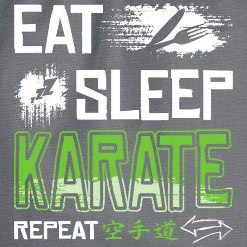Eat Sleep Karate Repeat - Turnbeutel