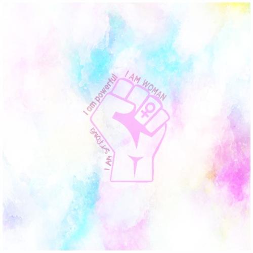 I am strong, I am powerful, I am woman - Drawstring Bag