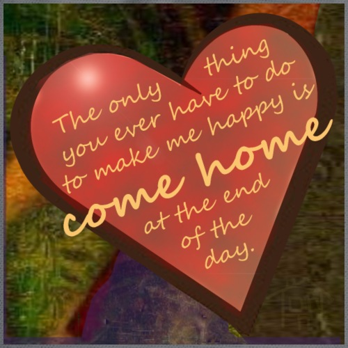 Come Home at the End of the Day - Drawstring Bag