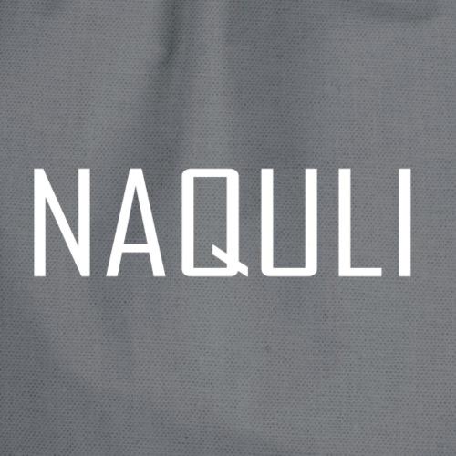 NAQULI Schriftzug Weiß - Turnbeutel