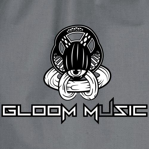 GLOOM MUSIC black white - Drawstring Bag
