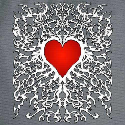 Metal Heart für helle Outfits - Turnbeutel