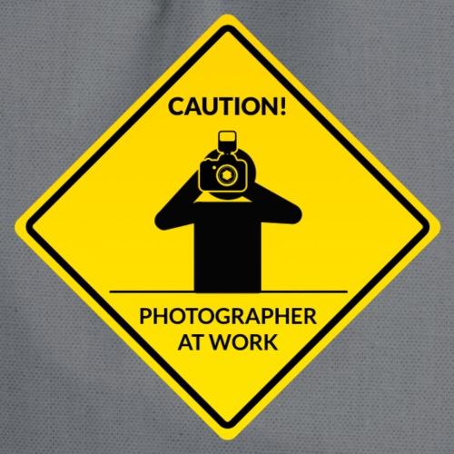 Achtung - Fotograf am Werk - Turnbeutel