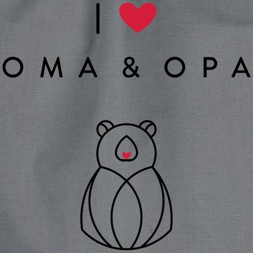 I love OMA & OPA - Turnbeutel