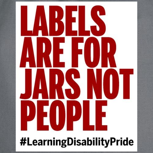 Labels tote - Drawstring Bag