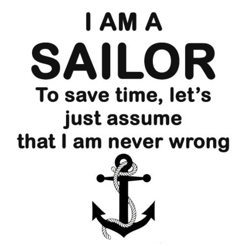i am a sailor - Drawstring Bag